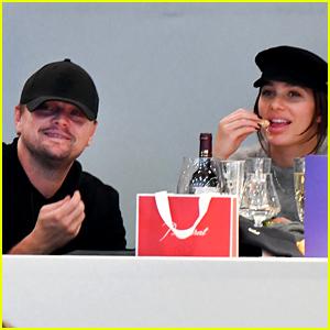 Leonardo DiCaprio & Camila Morrone Watch the  Longines Paris Masters Together!