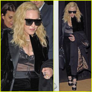Madonna Rocks Sheer Look for Dinner in London