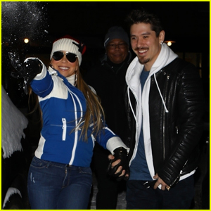 Mariah Carey Tosses Snowballs at Photographers in Aspen!