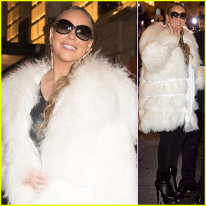 Mariah Carey Steps Out Looking Fabulous on Her Way to Her Concert in Paris!