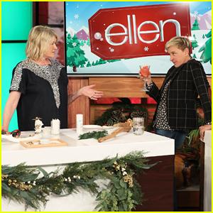 Martha Stewart Teaches 'Ellen' Holiday Crafts & Cocktails - Watch Here!