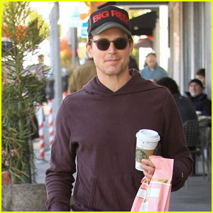 Matt Bomer is Joined By His Dog While Running Errands!