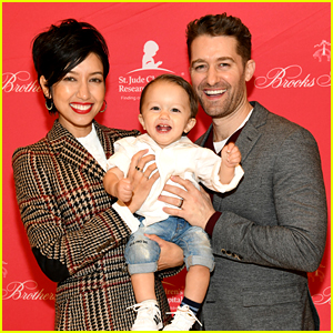 Matthew Morrison & Wife Renee Bring Their Son to Brooks Brothers Holiday Party!