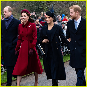 Meghan Markle & Prince Harry Walk to Christmas Service with William & Kate Amid Feud Rumors