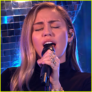 Miley Cyrus Covers Ariana Grande's 'No Tears Left to Cry' - Watch!