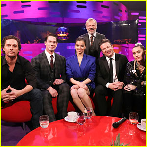 Miley Cyrus, Hailee Steinfeld, & Matthew McConaughey Team Up for 'Graham Norton Show' Appearance