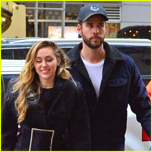 Miley Cyrus is Joined by Liam Hemsworth in NYC Ahead of 'SNL' Performance!