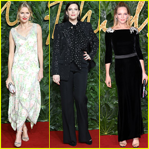 Naomi Watts, Liv Tyler, & Uma Thurman Glam Up for The Fashion Awards 2018 in London