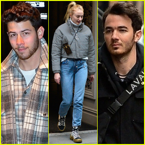 Nick Jonas Hangs Out with Older Brother Kevin & Future Sister-In-Law Sophie Turner!