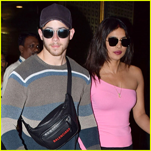 Newlyweds Nick Jonas & Priyanka Chopra Hold Hands As They Arrive Back in Mumbai