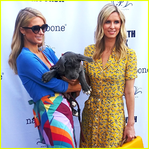 Paris & Nicky Hilton Support Pet Adoptions at Holiday Event