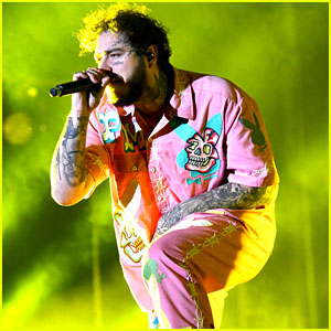 Post Malone Rocks a Killer Pink Bunny Outfit at Rolling Loud Festival!
