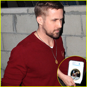 Ryan Gosling Carries an Apollo 11 Memento After Dinner in Beverly Hills!