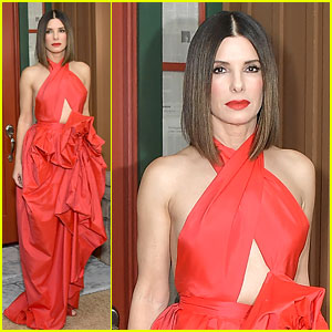Sandra Bullock Stuns in Bold Red Gown at 'Bird Box' New York Screening