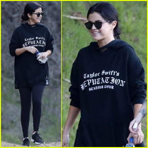 Selena Gomez Reps BFF Taylor Swift During Afternoon Hike