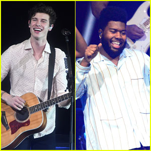 Shawn Mendes & Khalid Have Fun at Tampa Jingle Ball