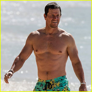 Shirtless Mark Wahlberg Hits the Beach in Barbados Again!