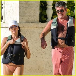 Simon Cowell & Lauren Silverman Soak Up the Sun in Barbados!