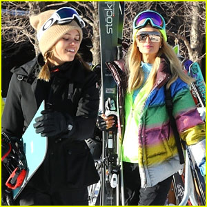 Sofia Richie & Paris Hilton Hit The Aspen Slopes Together