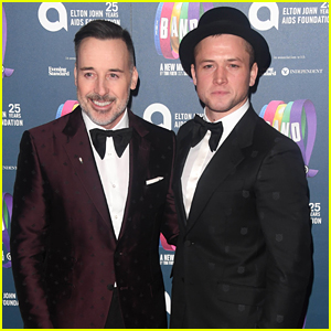 Taron Egerton Supports Elton John's Charity at 'The Band' Gala