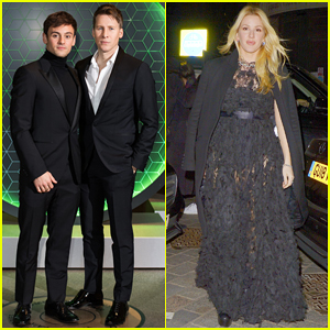 Tom Daley & Dustin Lance Black Couple Up at Vanity Fair x Bloomberg Climate Change Gala!