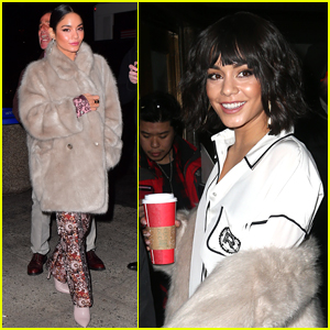 Vanessa Hudgens Bundles Up for Screening of 'Second Act'!