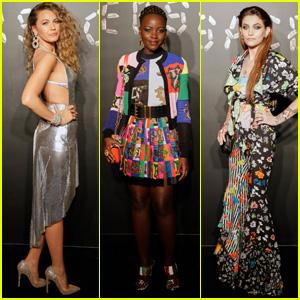 Blake Lively, Lupita Nyong'o & Paris Jackson Attend Versace Pre-Fall 2019 Runway Show!