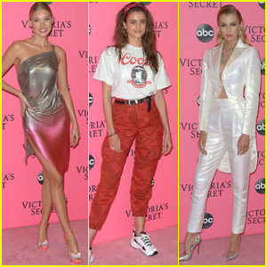 Elsa Hosk, Taylor Hill & Stella Maxwell Attend Victoria's Secret Fashion Show Viewing Party!
