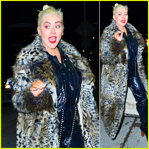 Christina Aguilera Is All Smiles Heading to New Year's Eve Rehearsals in NYC!