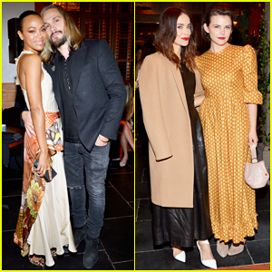 Zoe Saldana & Hubby Marco Perego Couple Up at Tamara Mellon Shop Opening Party!