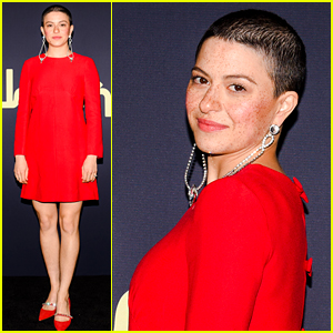 Alia Shawkat Debuts Shaved Head at Miu Miu Event