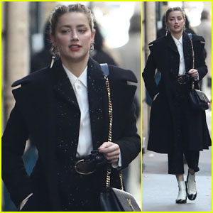 Amber Heard Heads Out for the Day in Paris!