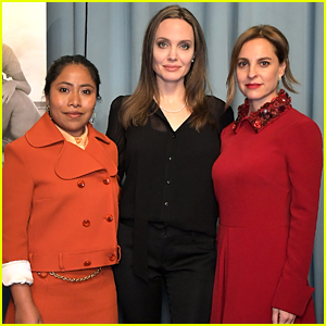 Angelina Jolie Attends 'Roma' Screening with the Film's Co-Stars!