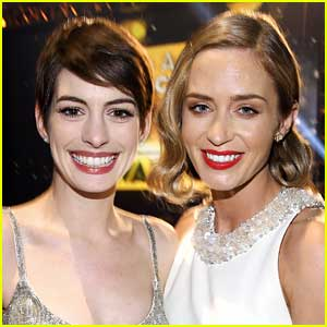 Anne Hathaway Celebrates 'Devil Wears Prada' Co-Star Emily Blunt's SAG Awards Win!