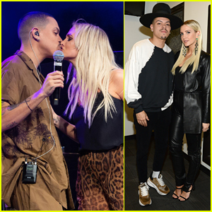 Ashlee Simpson & Evan Ross Share a Kiss on Stage During Their Concert in NYC!