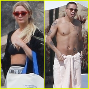 Ashlee Simpson Joins Shirtless Evan Ross on Vacation in Cabo San Lucas!