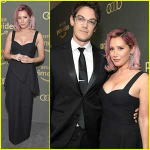 Ashley Tisdale & Christopher French Make It A Date Night at Golden Globes After Party