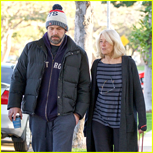 Ben Affleck Enjoys a Stroll With His Mom After Dropping the Kids Off at School
