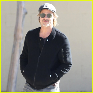 Brad Pitt Steps Out for Afternoon Meeting with His Team