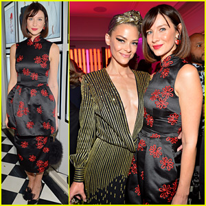 Caitriona Balfe & Jaime King Meet Up at W Magazine's Pre-Globes Party