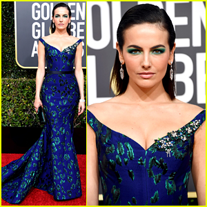 Camilla Belle is a Beauty in Blue at Golden Globes 2019