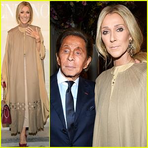 Celine Dion Joins Valentino Garavani at His Haute Couture Fashion Show