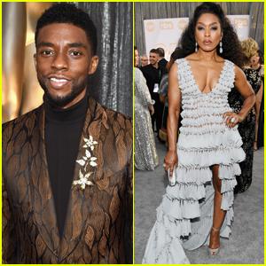 Chadwick Boseman Joins 'Black Panther' Co-Star Angela Bassett at SAG Awards 2019