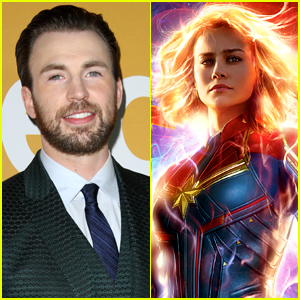 Chris Evans Supports 'Send Girls to See Captain Marvel' Campaign