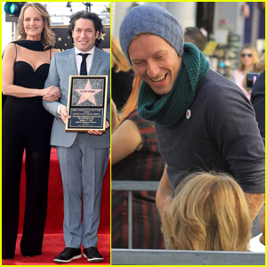 Chris Martin & Helen Hunt Support LA Philharmonic's Gustavo Dudamel at Walk of Fame Ceremony