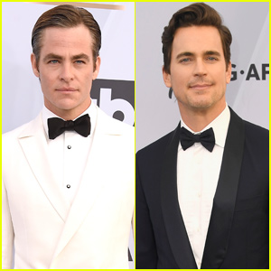 Chris Pine & Matt Bomer Suit Up For SAG Awards 2019!