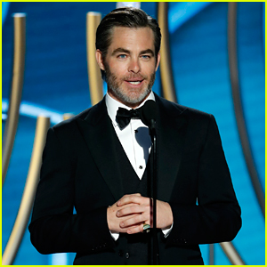 Chris Pine Presents Jeff Bridges With Cecil B. DeMille Award at Golden Globes 2019!