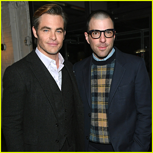 Chris Pine Reunites with Zachary Quinto at 'I Am The Night' NYC Premiere!