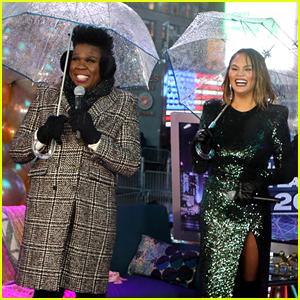 Chrissy Teigen Collides with Leslie Jones' Umbrella to Start 2019