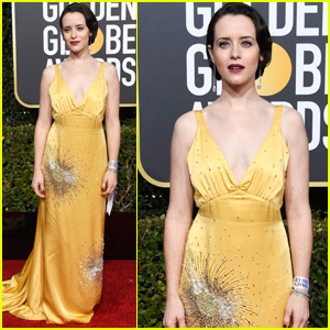 Claire Foy Represents 'First Man' at Golden Globes 2019!